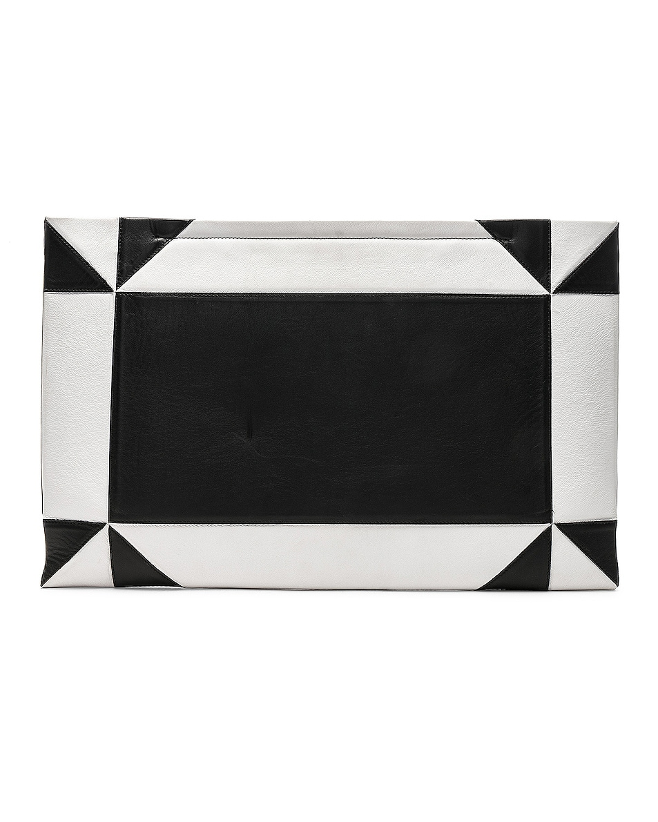 Image 3 of CALVIN KLEIN 205W39NYC Geometric Quilted Clutch in White & Black