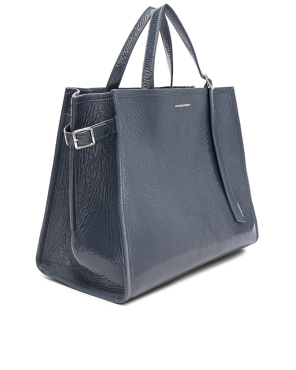 Image 4 of CALVIN KLEIN 205W39NYC East West Side Strap Tote in Blue Grey