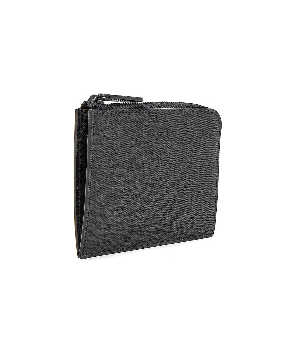 Image 3 of Common Projects Saffiano Leather Zipper Wallet in Black