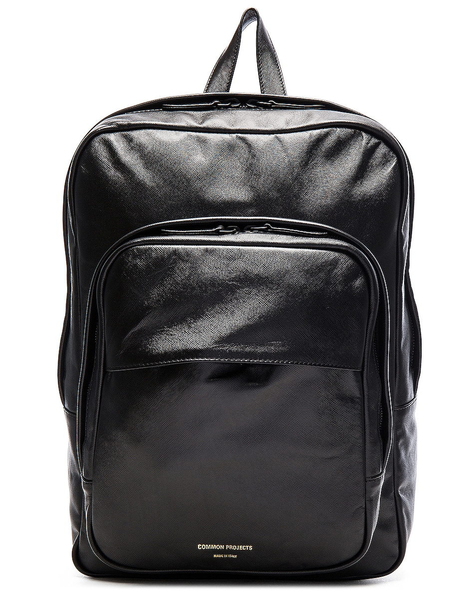 Image 1 of Common Projects Leather Backpack in Black