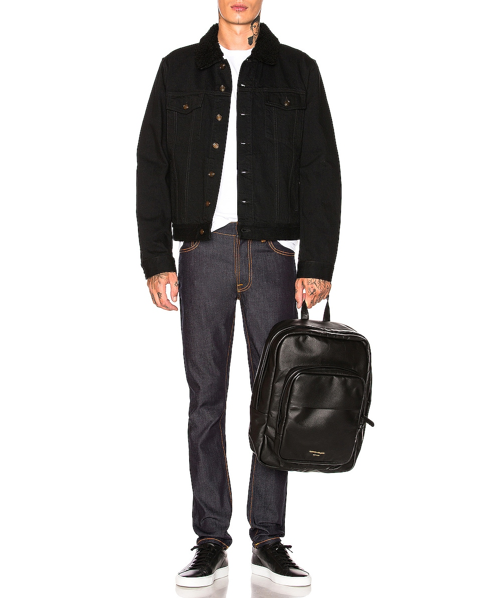Image 2 of Common Projects Leather Backpack in Black