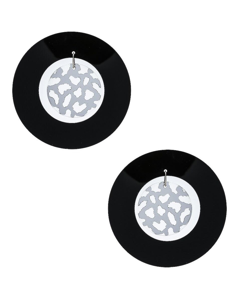 Image 1 of CARMEN MARCH Double Disc Earrings in Black