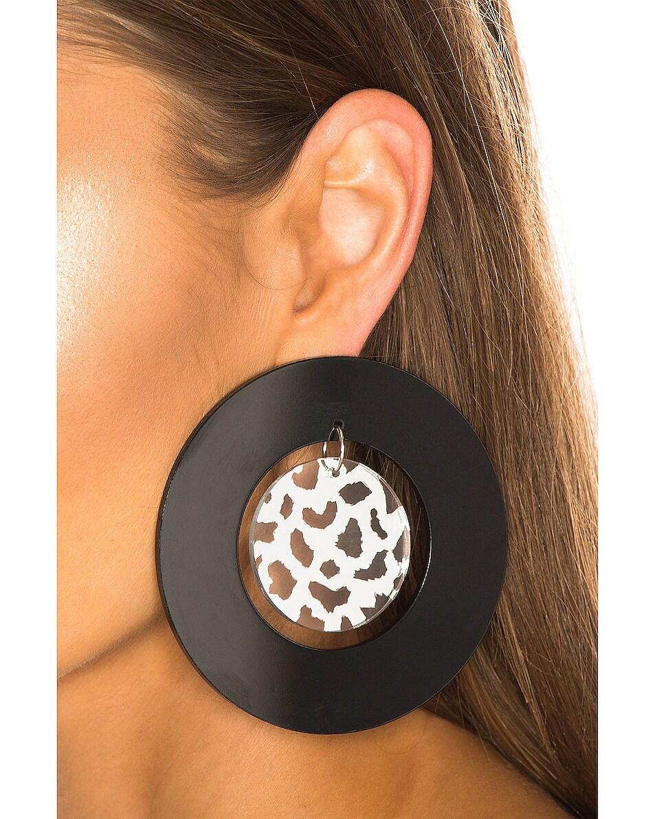 Image 2 of CARMEN MARCH Double Disc Earrings in Black