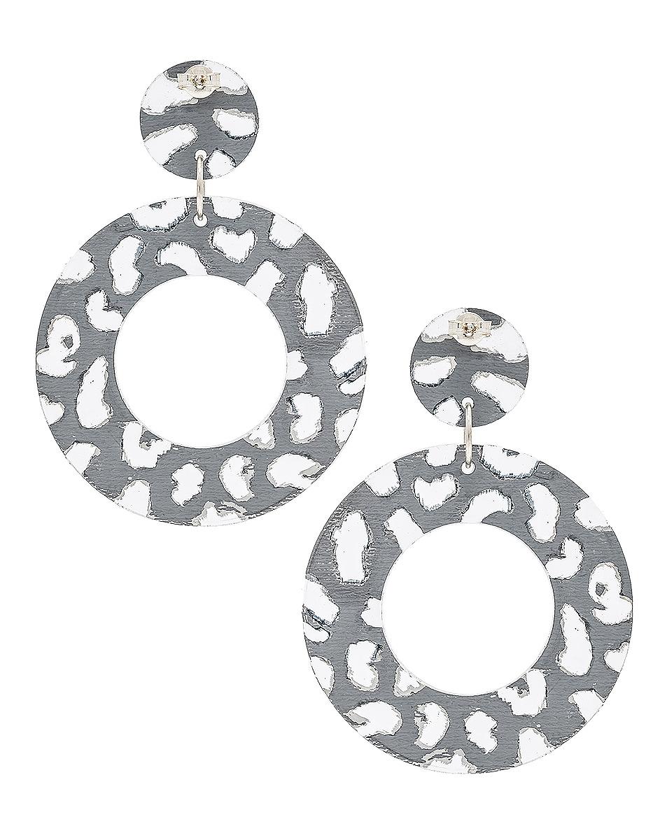 Image 4 of CARMEN MARCH Disc Earrings in Silver