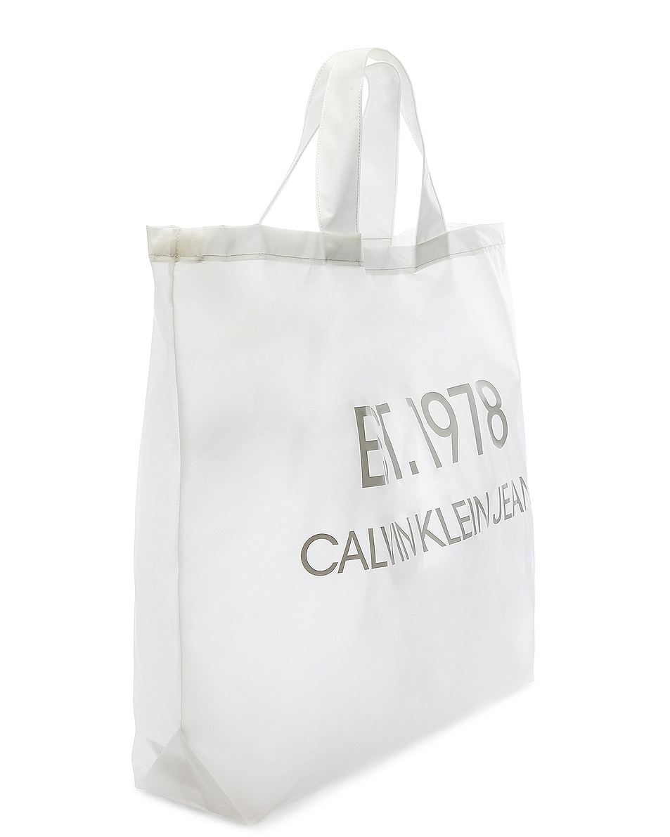 Image 4 of Calvin Klein Est. 1978 Logo Big Tote in Transparent