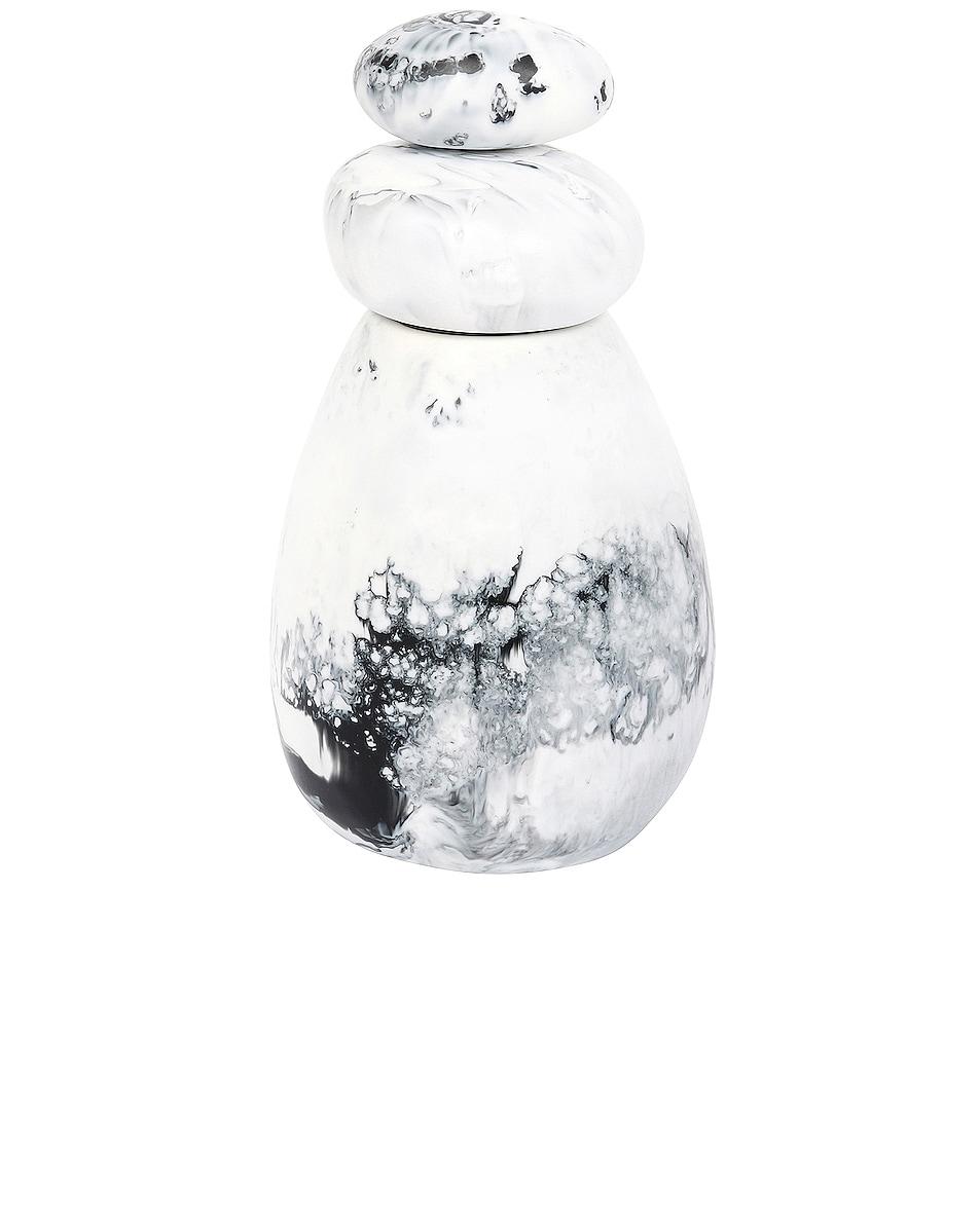 Image 1 of DINOSAUR DESIGNS Boulder Salt Grinder in White Marble Swirl
