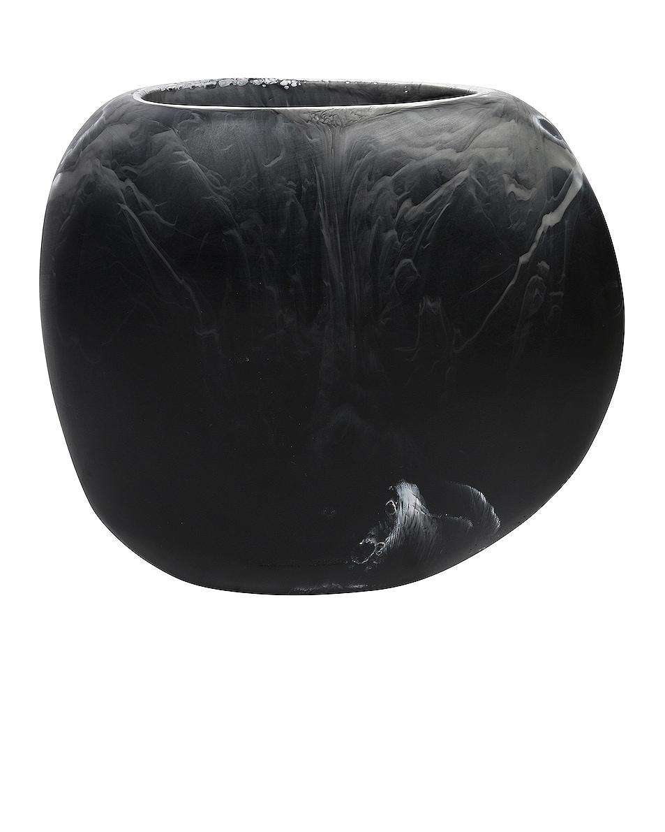 Image 1 of DINOSAUR DESIGNS Large Rock Vase in Black Marble