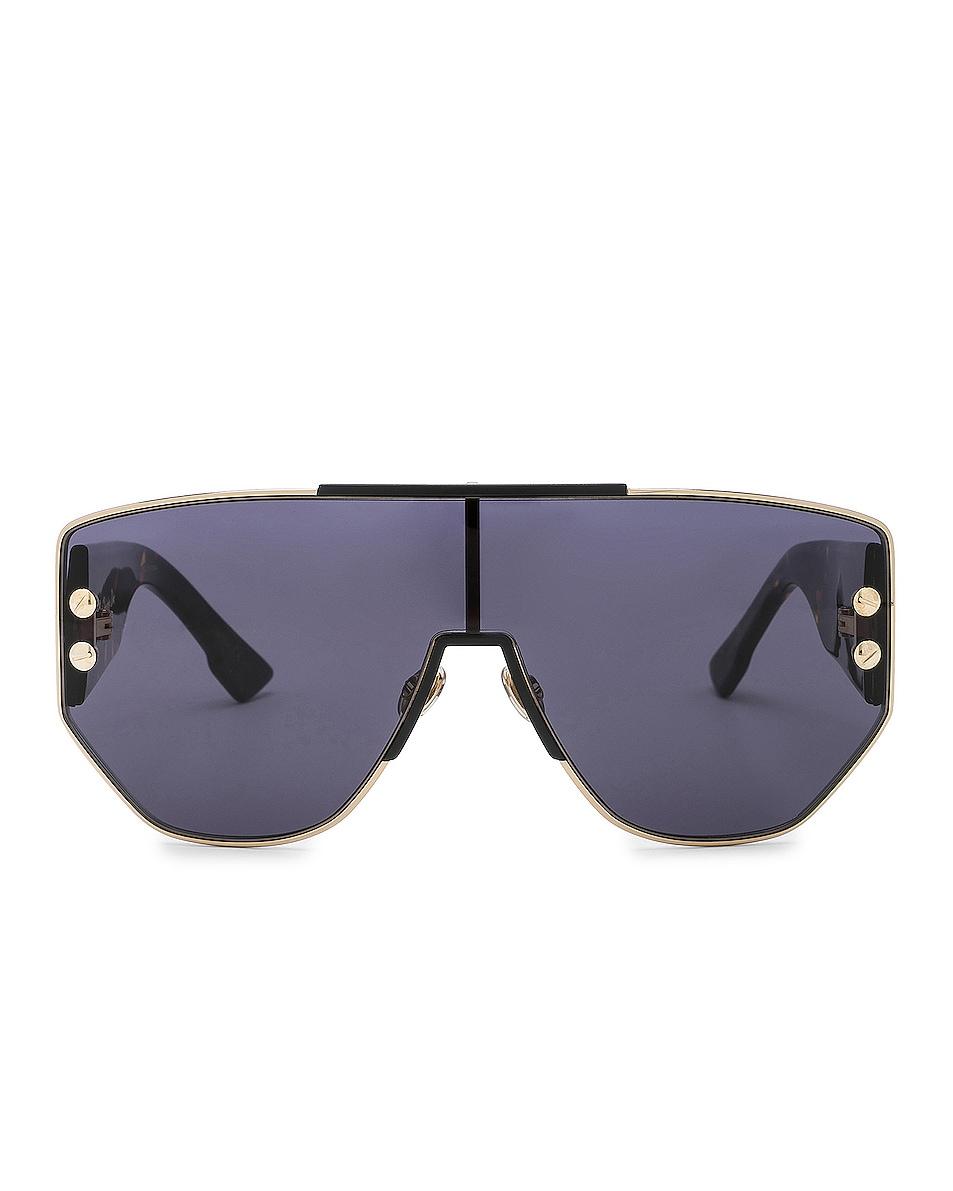 Image 1 of Dior Addict 1 Sunglasses in Rose Gold & Blue