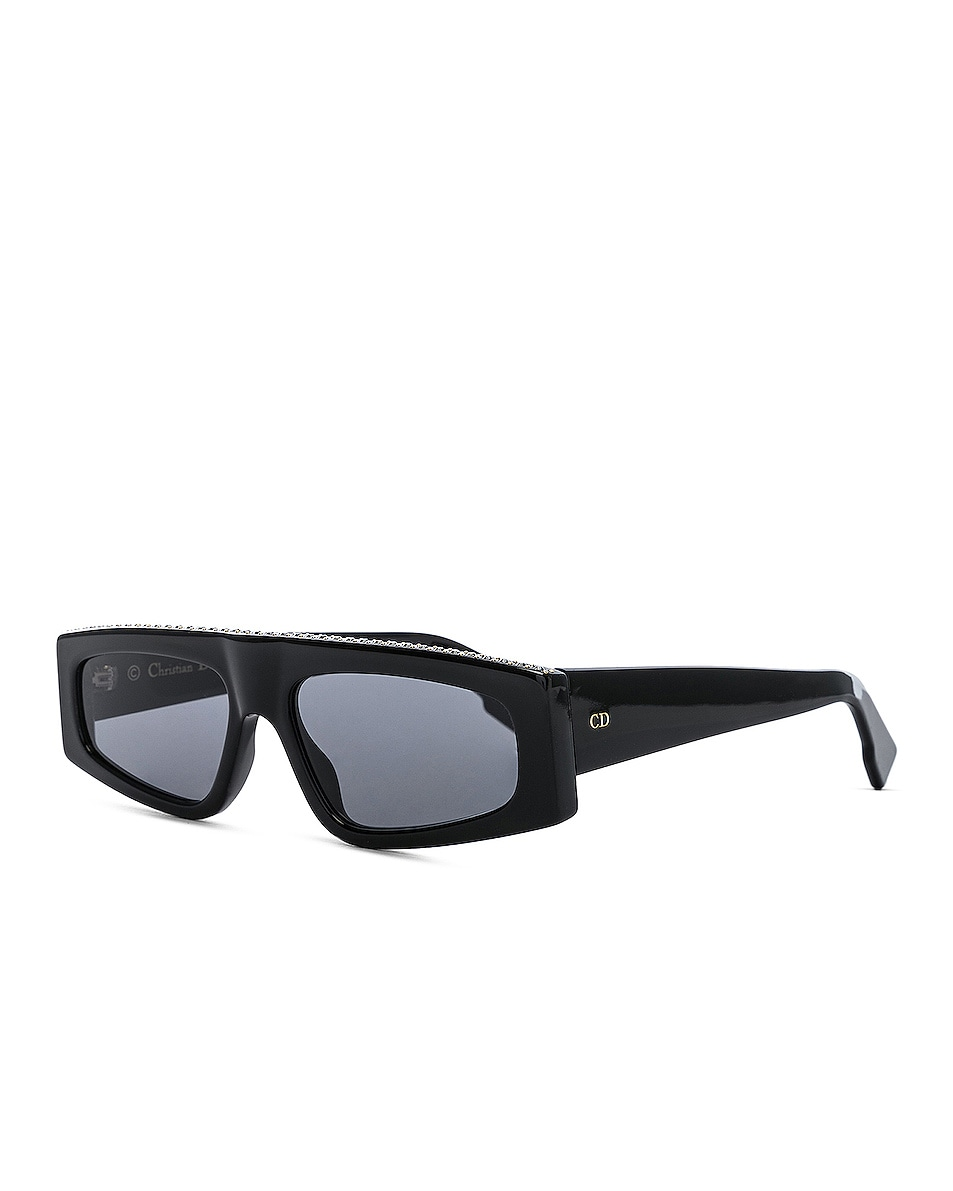 Image 2 of Dior Power Sunglasses in Black Crystal & Gray