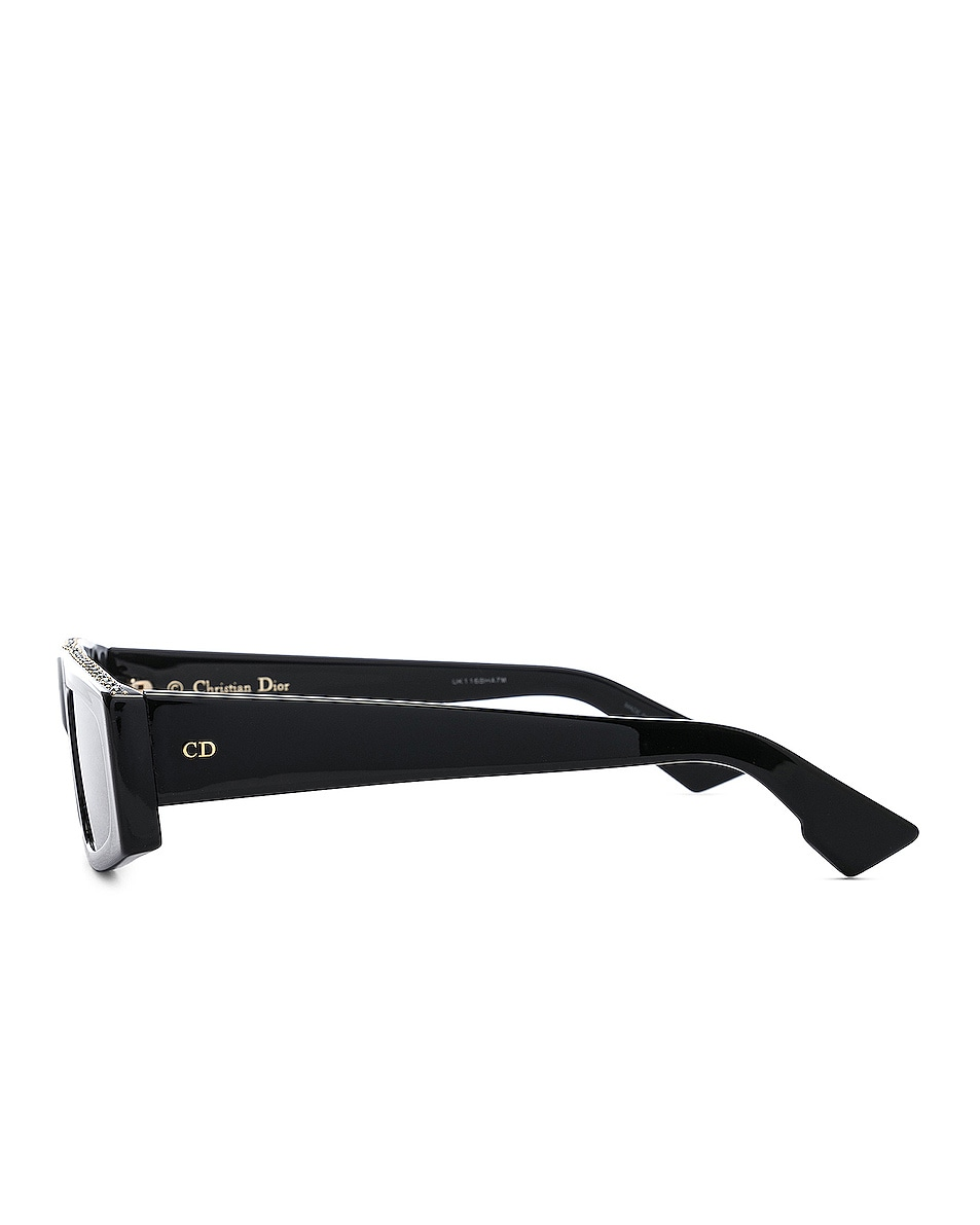 Image 3 of Dior Power Sunglasses in Black Crystal & Gray