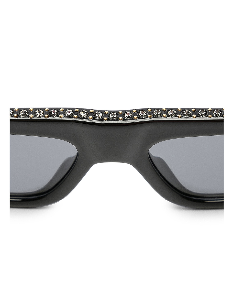 Image 4 of Dior Power Sunglasses in Black Crystal & Gray