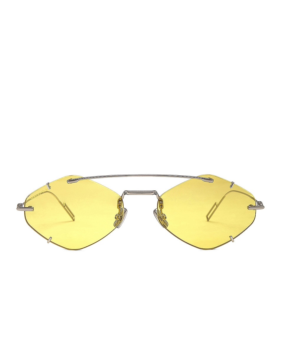 Image 1 of Dior Inclusion Sunglasses in Palladium & Gold