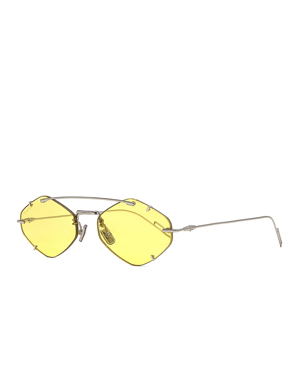 Image 2 of Dior Inclusion Sunglasses in Palladium & Gold