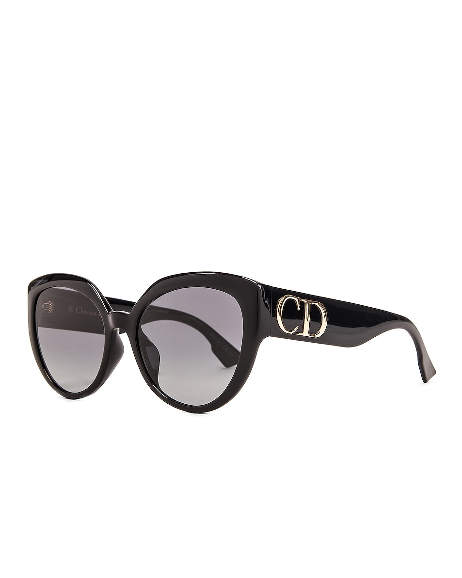 Image 2 of Dior DDIORF Cateye Sunglasses in Black