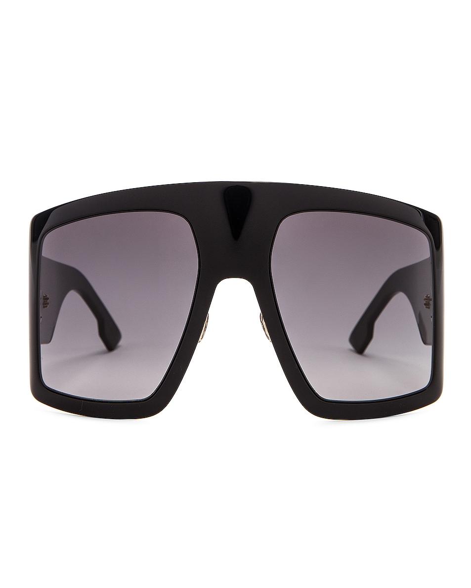 Image 1 of Dior Shield Sunglasses in Black