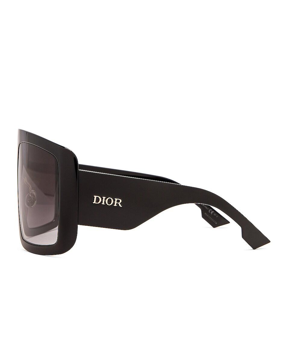 Image 3 of Dior Shield Sunglasses in Black
