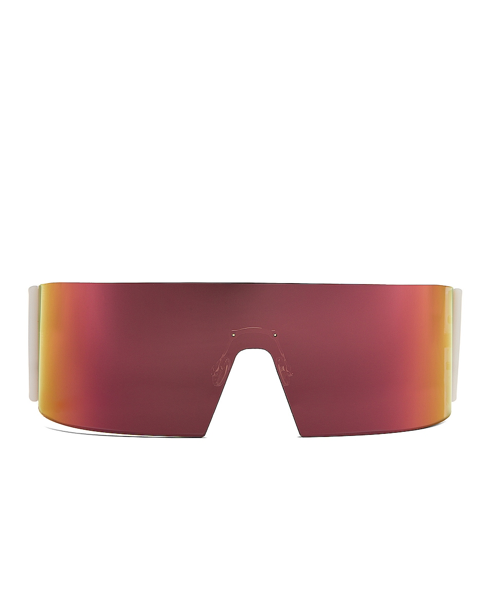 Image 1 of Dior Kaleidoscopic Shield Sunglasses in Gray Rose Gold