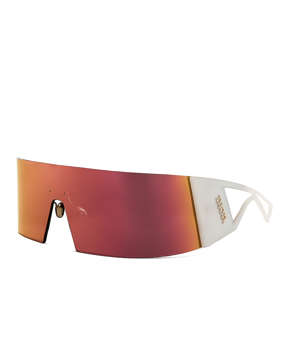 Image 2 of Dior Kaleidoscopic Shield Sunglasses in Gray Rose Gold