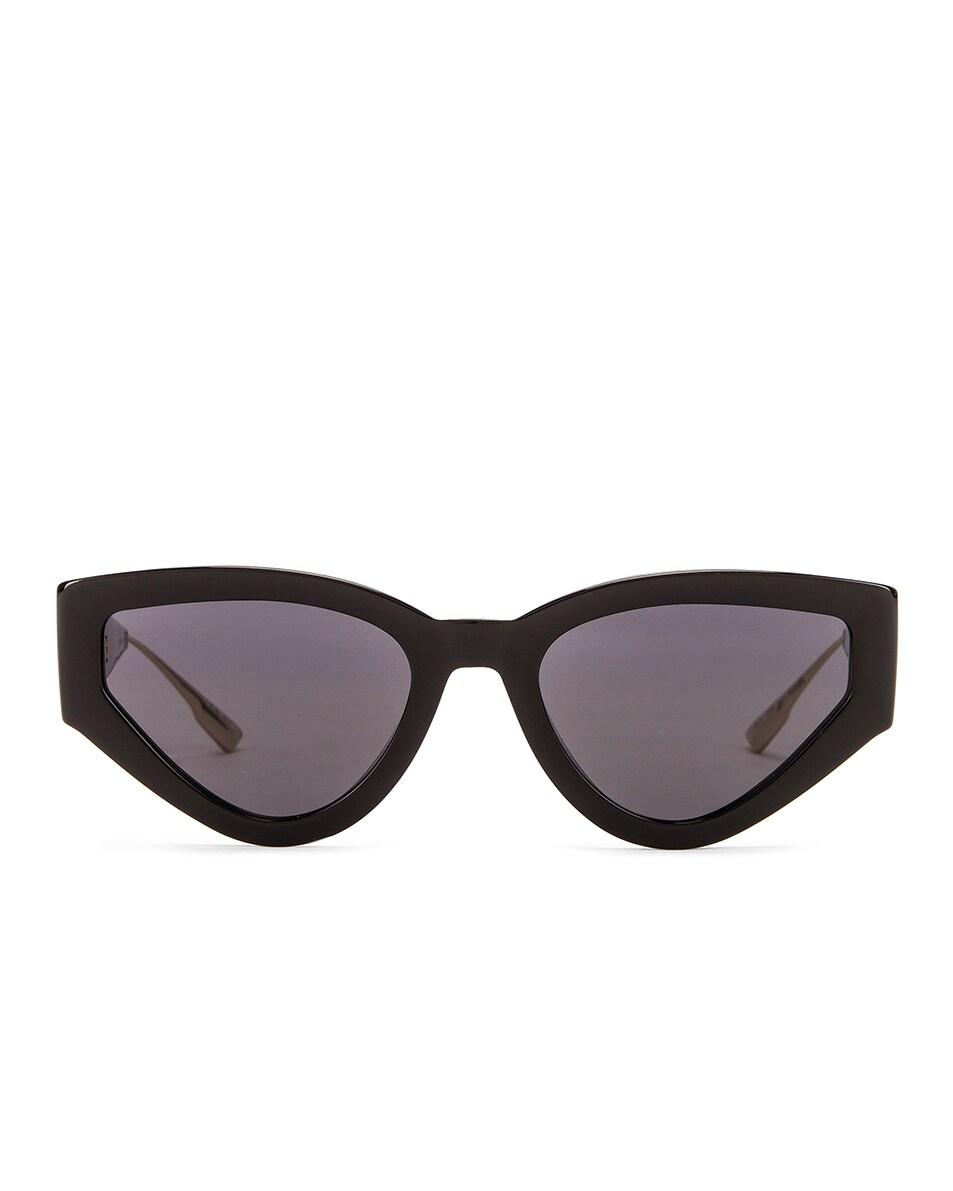 Image 1 of Dior Cat Eye Sunglasses in Black & Gray