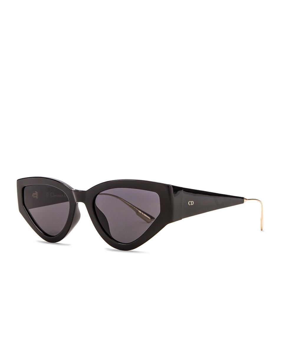 Image 2 of Dior Cat Eye Sunglasses in Black & Gray