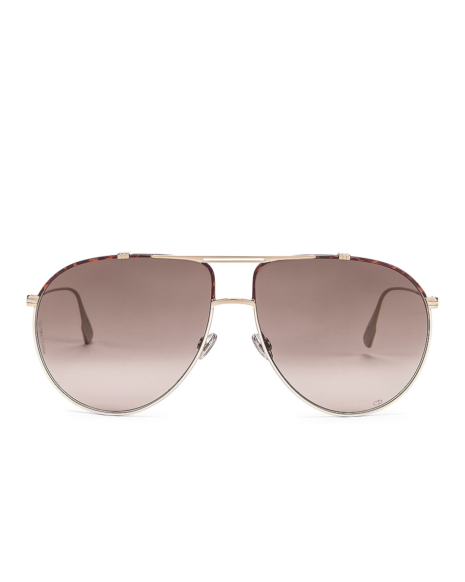 Image 1 of Dior Monsieur Sunglasses in Black & Brown