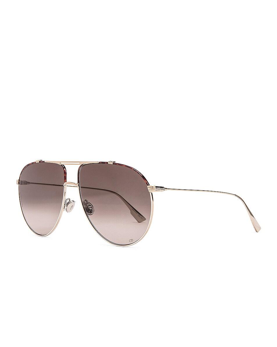 Image 2 of Dior Monsieur Sunglasses in Black & Brown