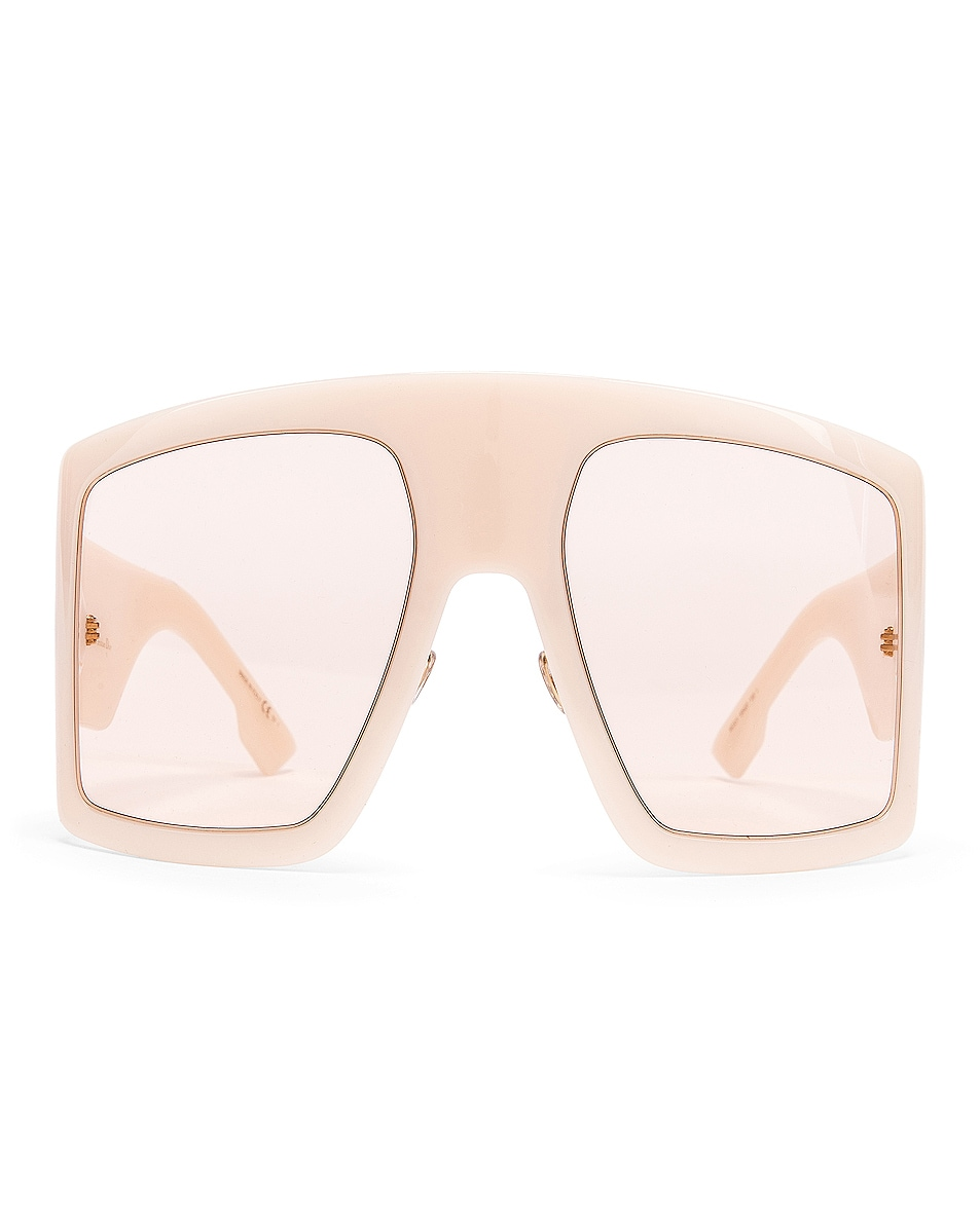 Image 1 of Dior Shield Sunglasses in Ivory & Pink