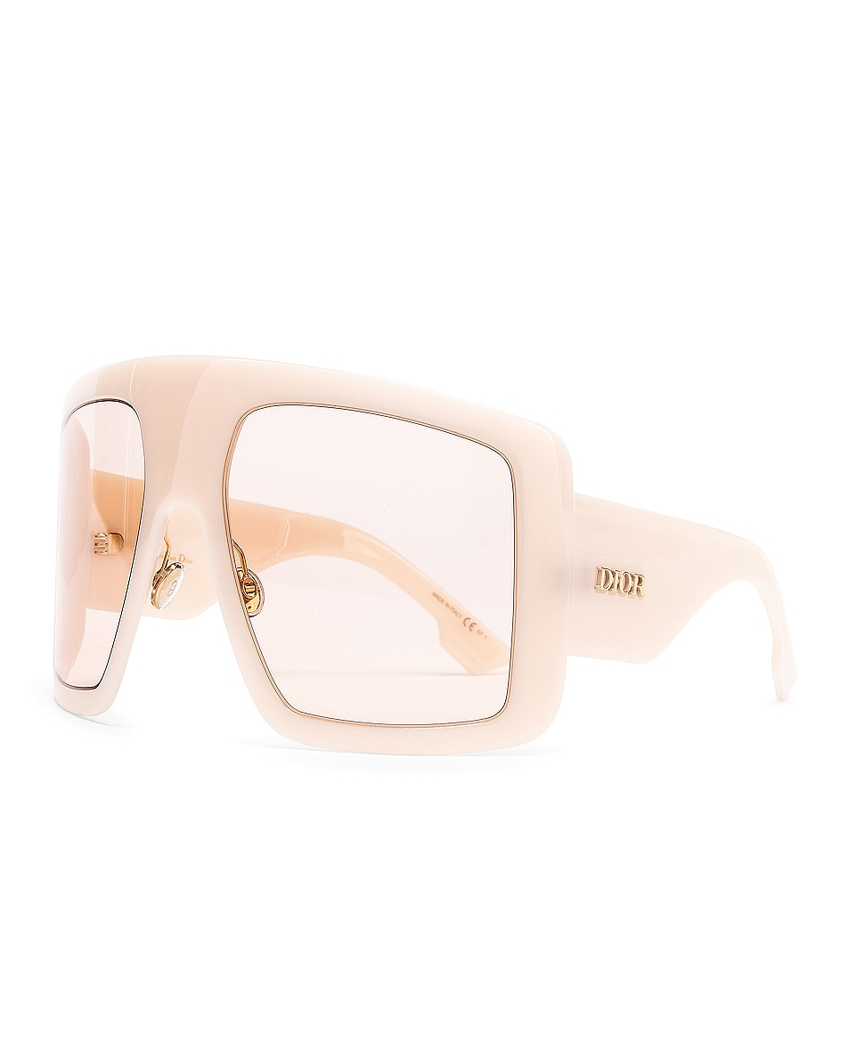 Image 2 of Dior Shield Sunglasses in Ivory & Pink