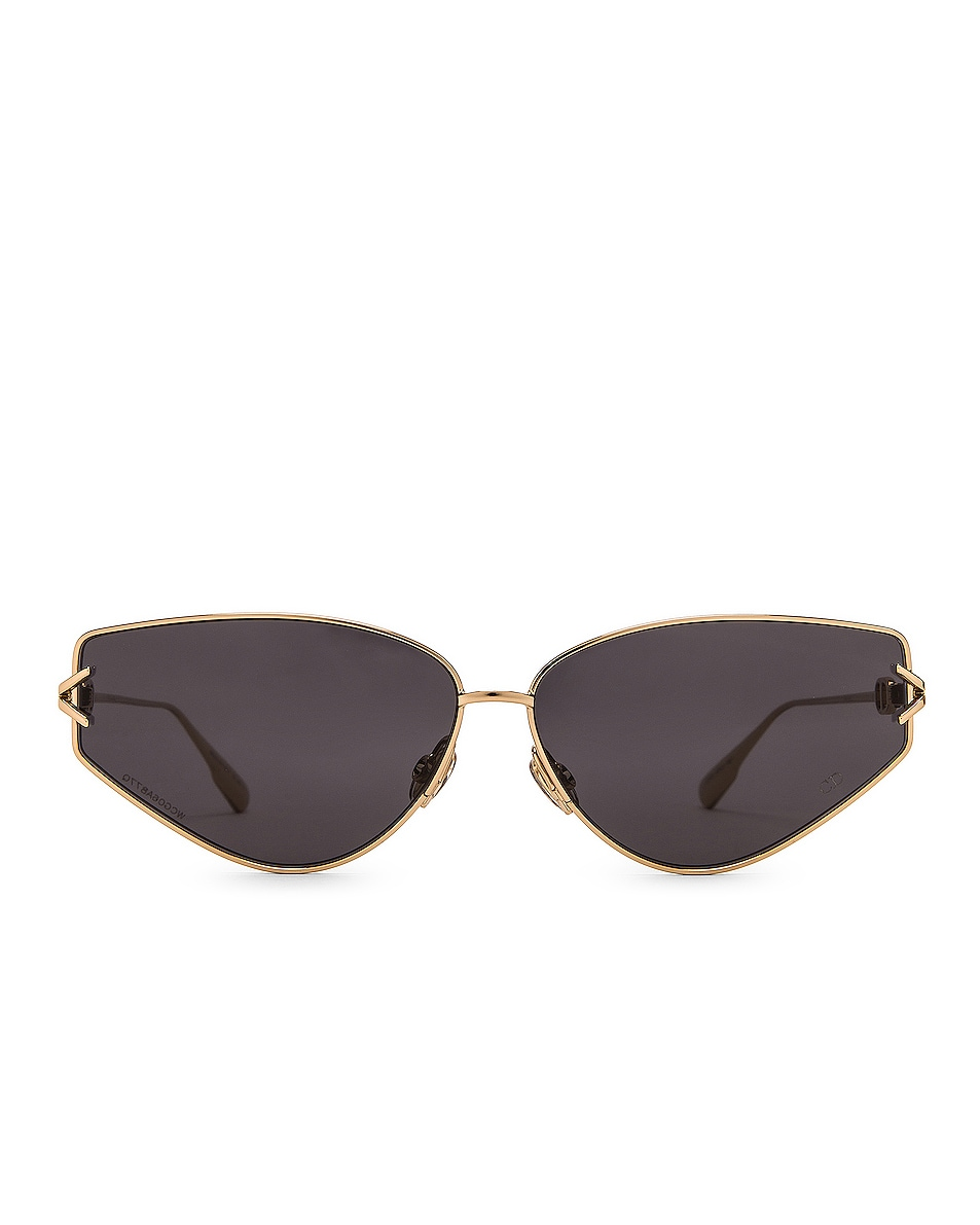 Image 1 of Dior Small Gipsy Sunglasses in Gold & Gray