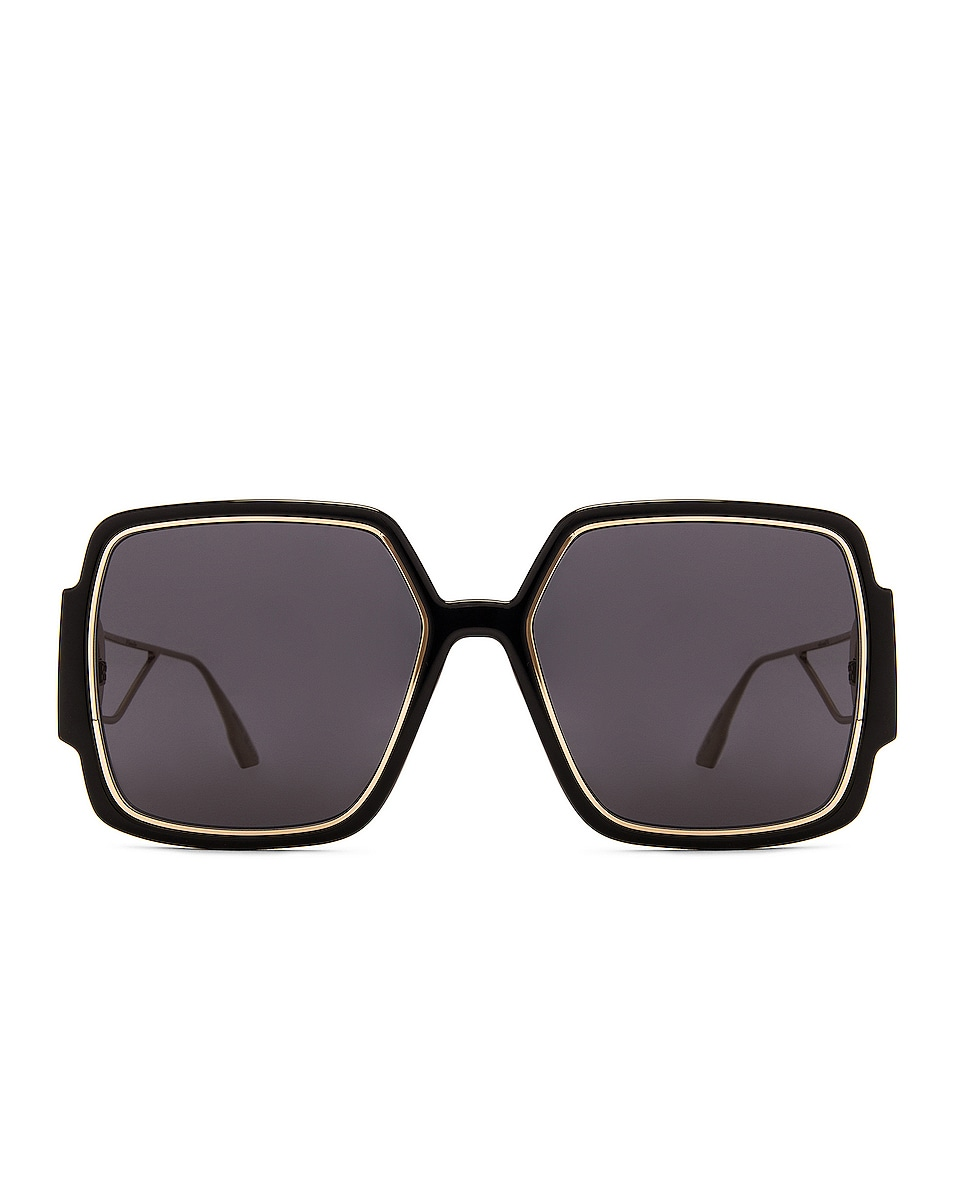Image 1 of Dior Montaigne Sunglasses in Black & Gold
