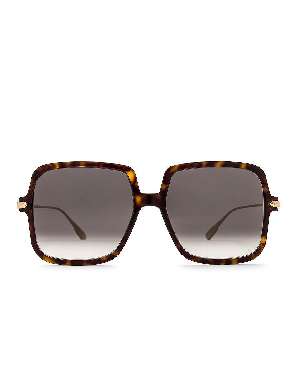 Image 1 of Dior Link Square Sunglasses in Dark Havana