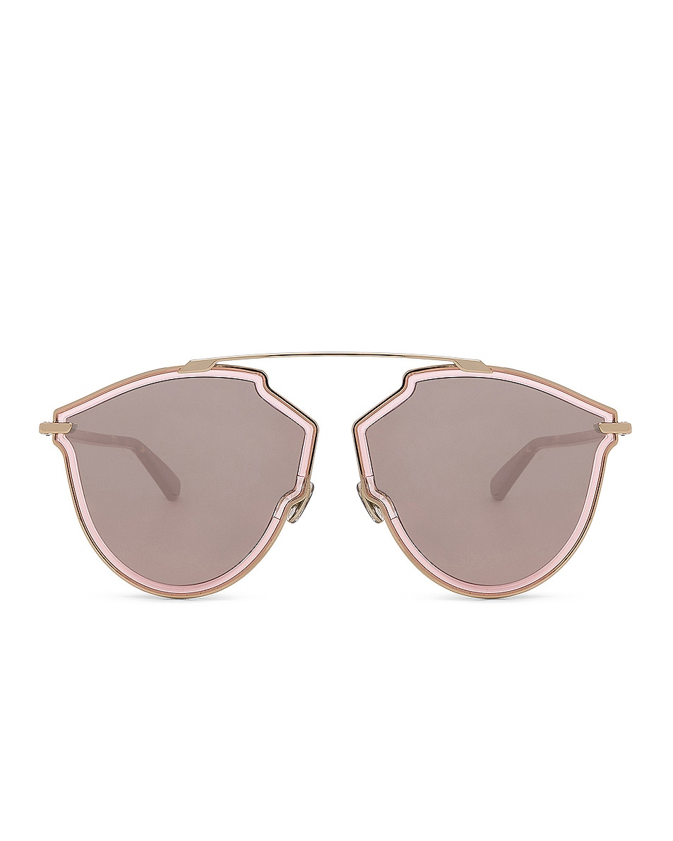 d9855c0b29 Image 1 of Dior So Real Rise Sunglasses in Pink Gold   Gray Rose Gold