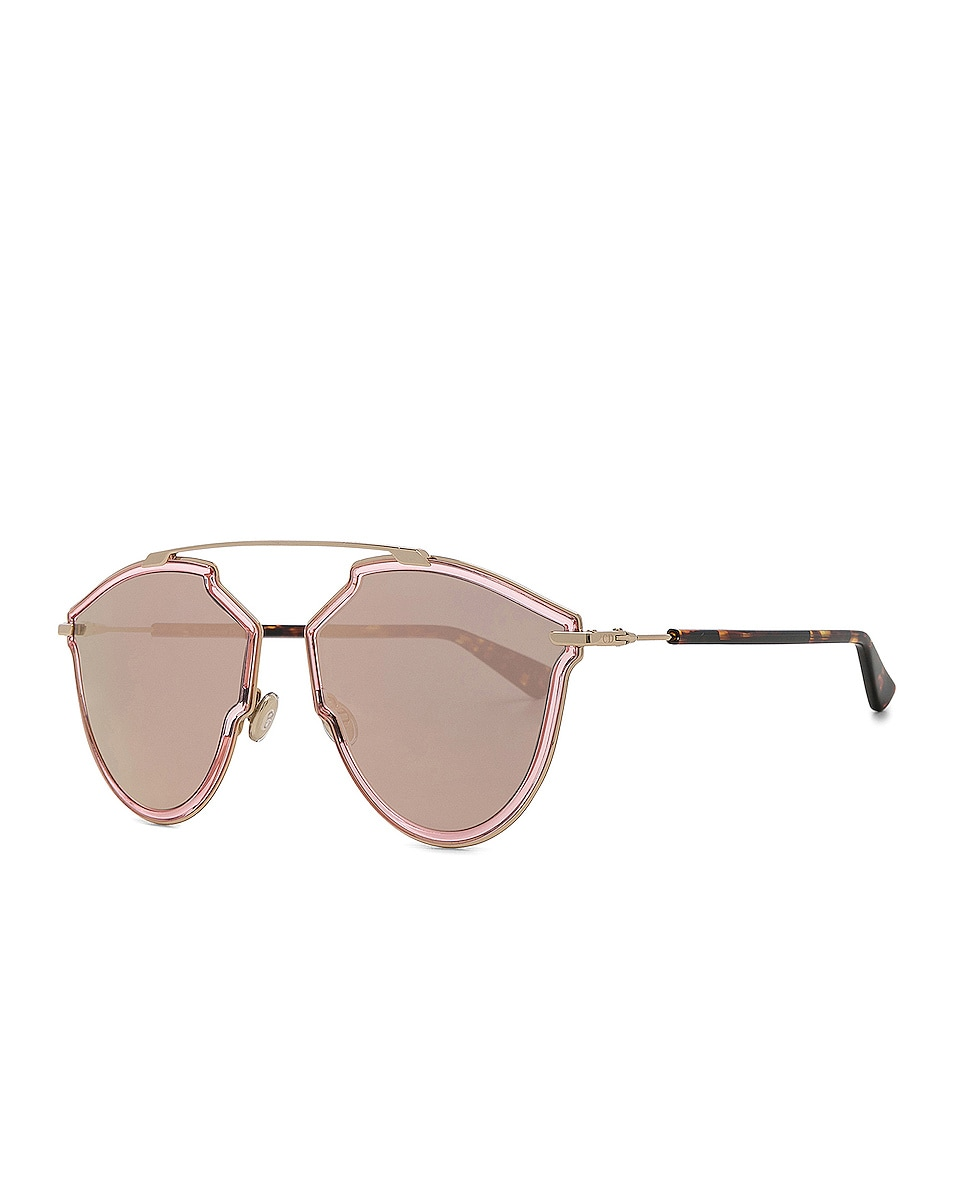 Image 2 of Dior So Real Rise Sunglasses in Pink Gold & Gray Rose Gold