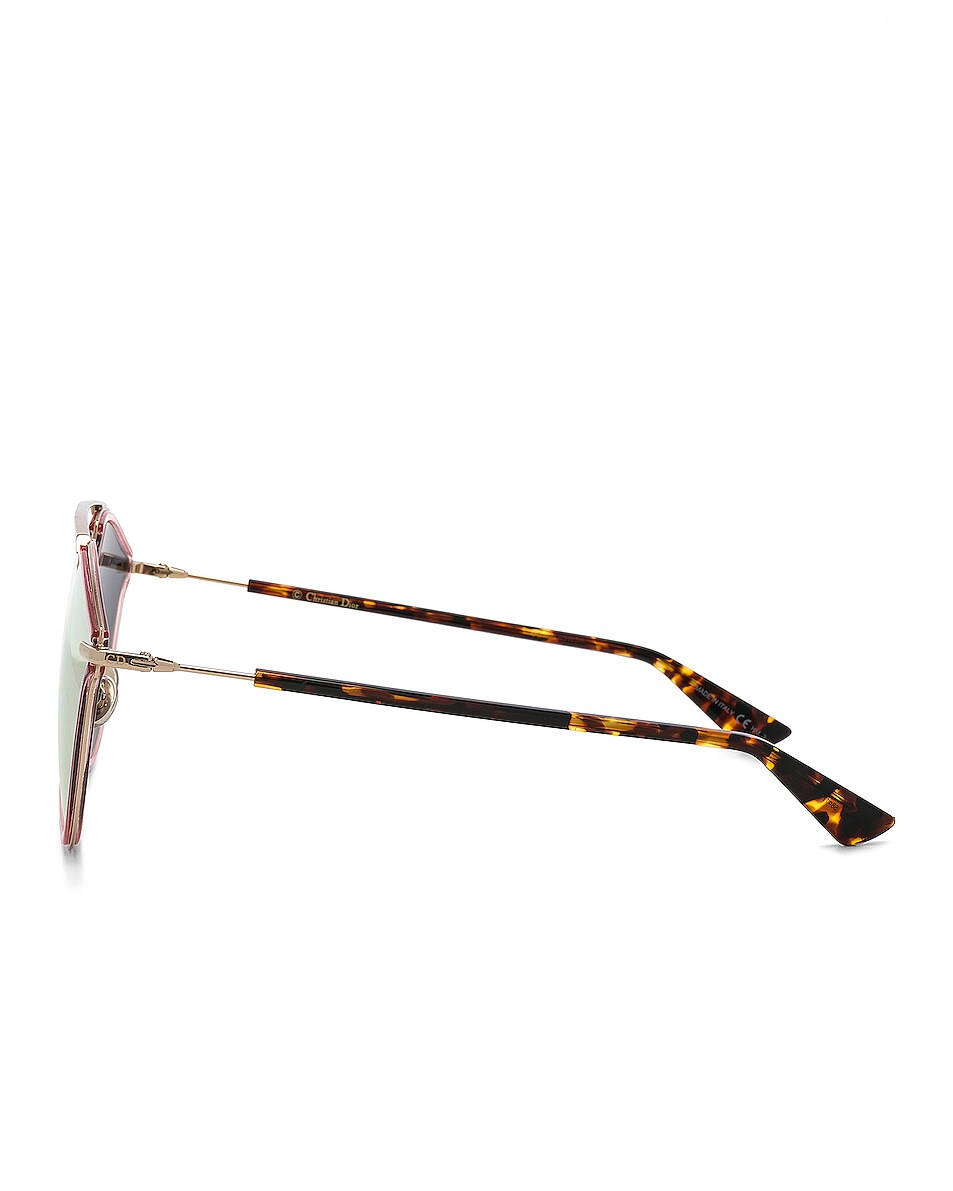 Image 3 of Dior So Real Rise Sunglasses in Pink Gold & Gray Rose Gold