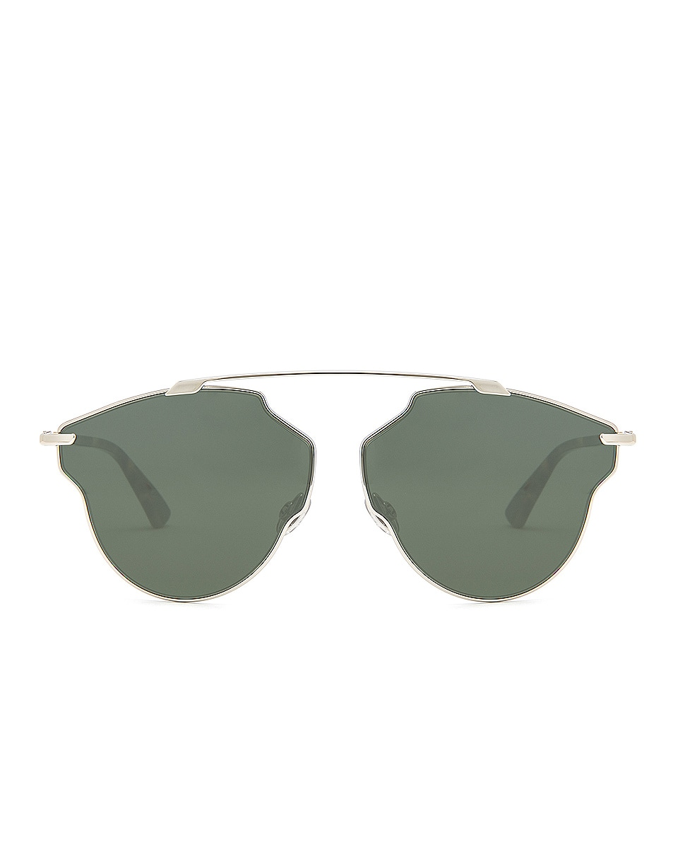 Image 1 of Dior So Real Pops Sunglasses in Silver & Green