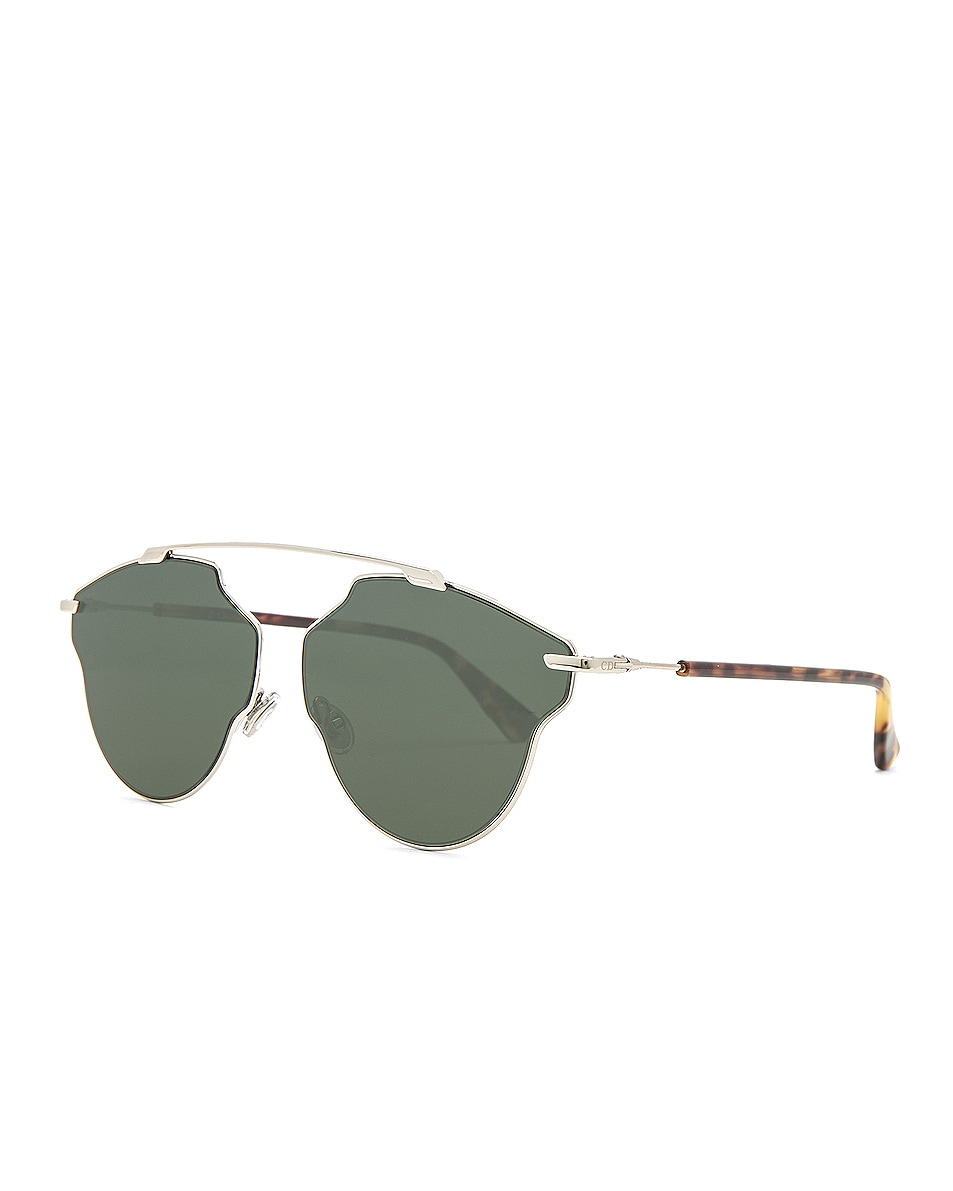 Image 2 of Dior So Real Pops Sunglasses in Silver & Green