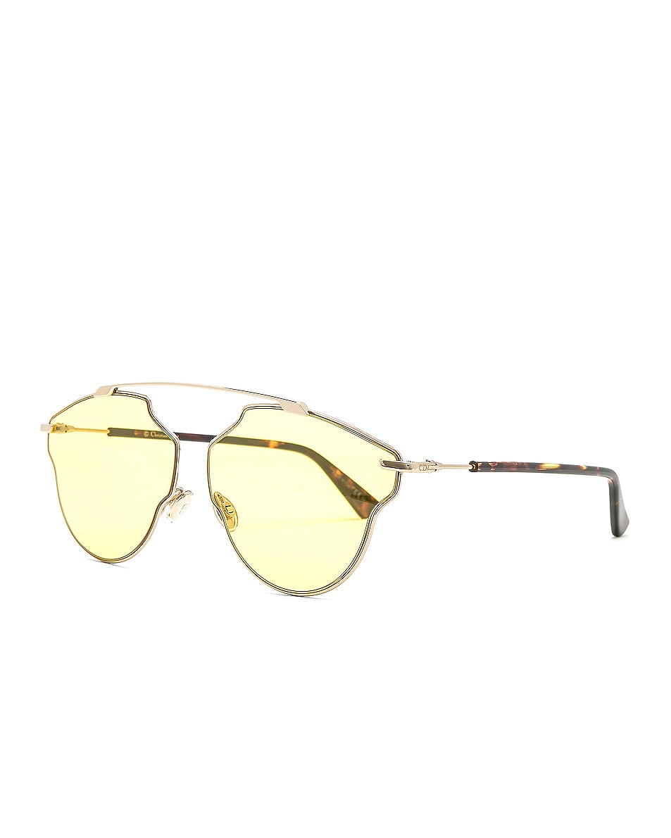 Image 2 of Dior So Real Pops Sunglasses in Gold & Yellow