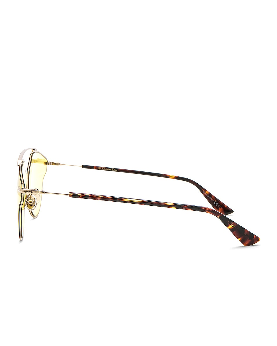 Image 3 of Dior So Real Pops Sunglasses in Gold & Yellow
