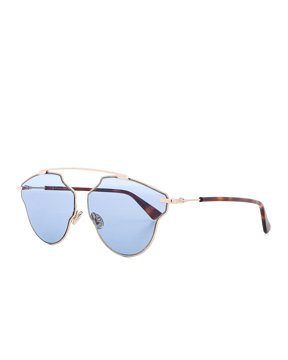 091d661fc0f Image 2 of Dior So Real Pops Sunglasses in Gold   Blue
