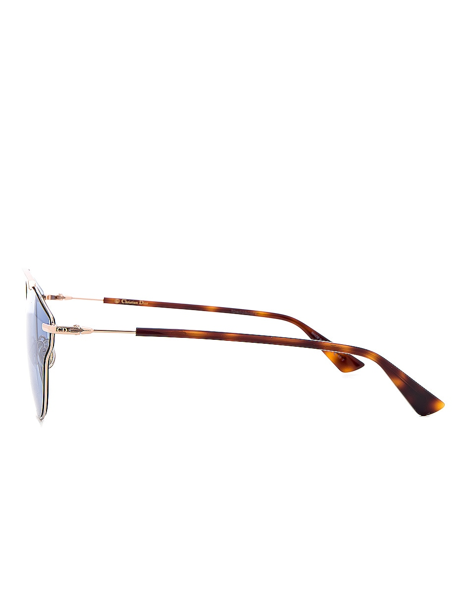 Image 3 of Dior So Real Pops Sunglasses in Gold & Blue