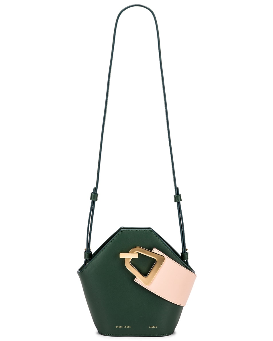 Image 6 of Danse Lente Mini Johnny Bag in Garden & Blush Gold
