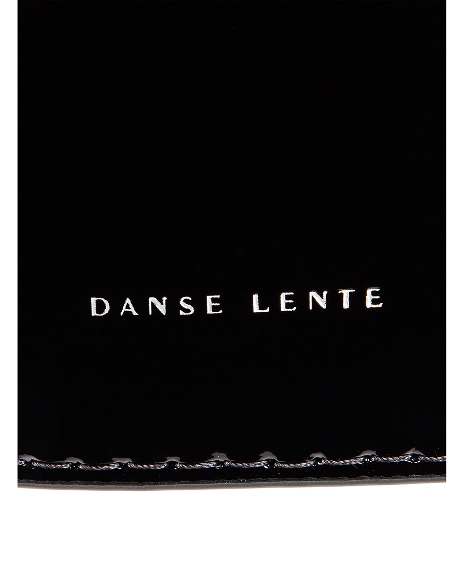 Image 7 of Danse Lente Patent Mini Johnny Bag in Jet Black & Celestial