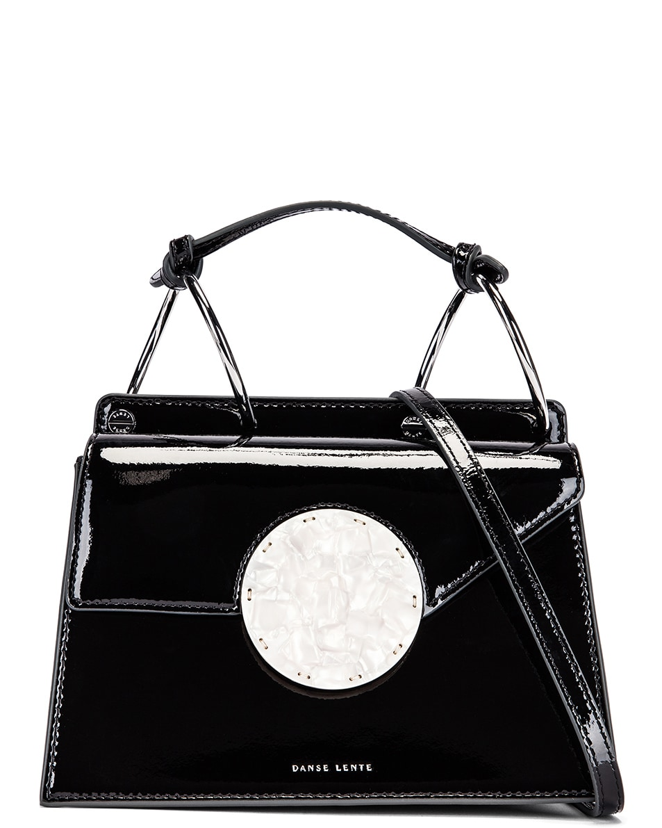 Image 1 of Danse Lente Patent Phoebe Bis Bag in Jet Black