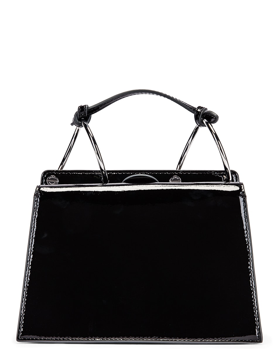 Image 3 of Danse Lente Patent Phoebe Bis Bag in Jet Black