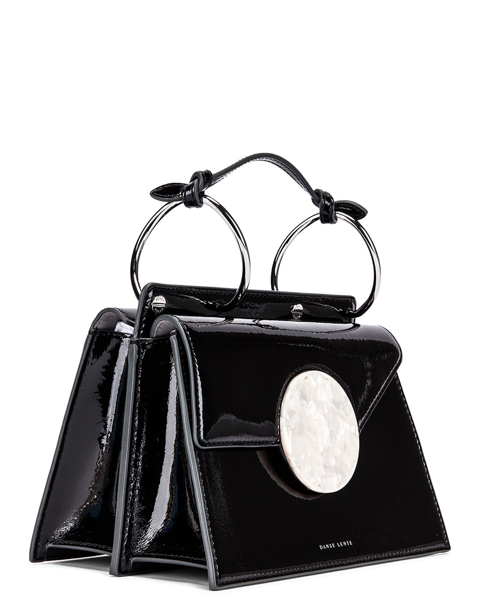 Image 4 of Danse Lente Patent Phoebe Bis Bag in Jet Black