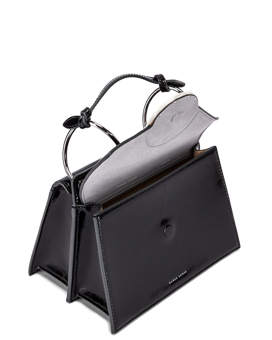 Image 5 of Danse Lente Patent Phoebe Bis Bag in Jet Black