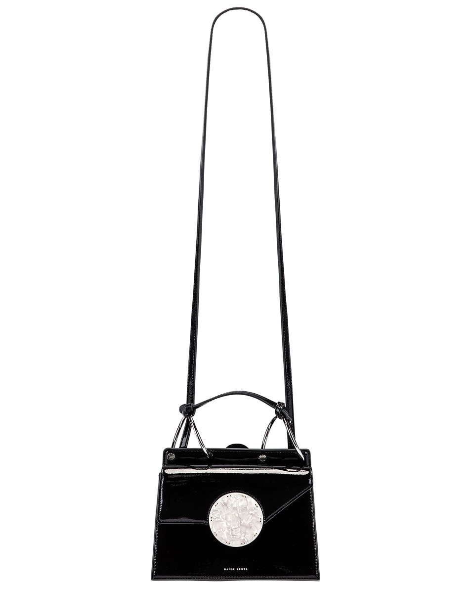 Image 6 of Danse Lente Patent Phoebe Bis Bag in Jet Black