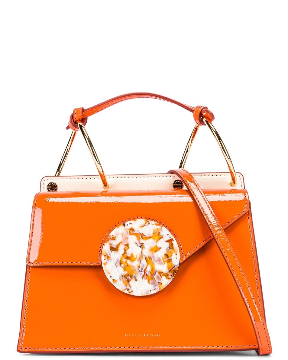 Image 1 of Danse Lente Patent Phoebe Bis Bag in Tangerine