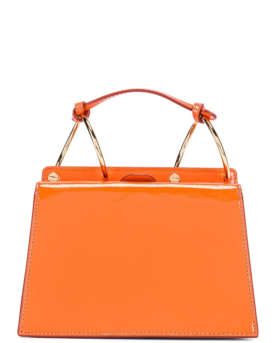 Image 3 of Danse Lente Patent Phoebe Bis Bag in Tangerine