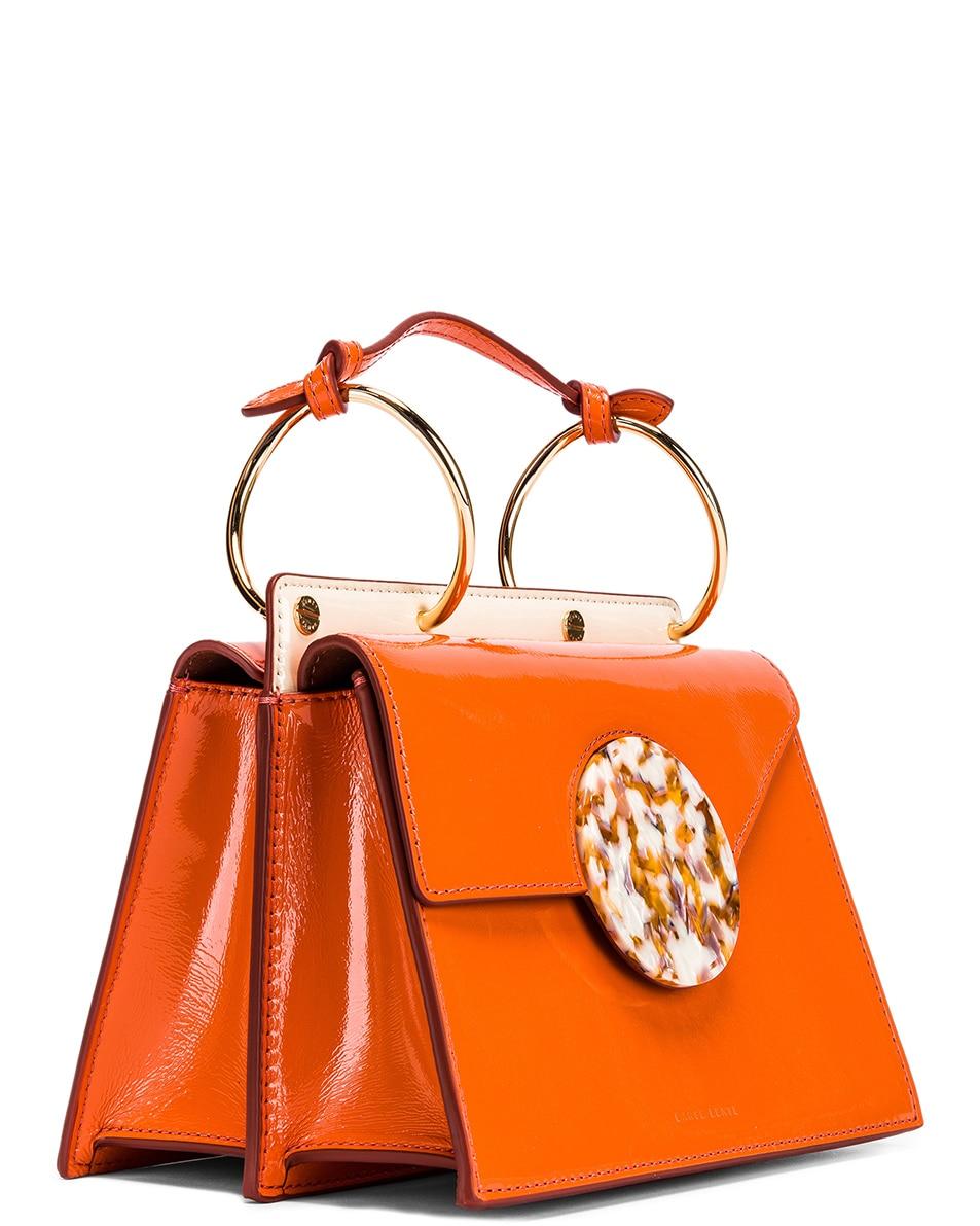 Image 4 of Danse Lente Patent Phoebe Bis Bag in Tangerine